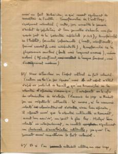 Essai manuscrit